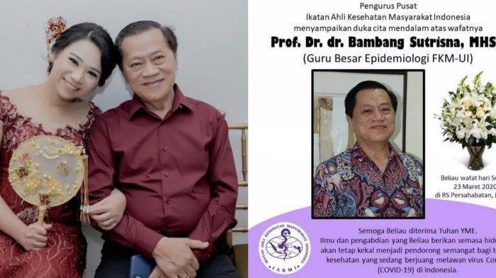 dr Bambang Sutrisna Meninggal karena Corona, Anak Curiga Ayahnya Tertular dari Pasien