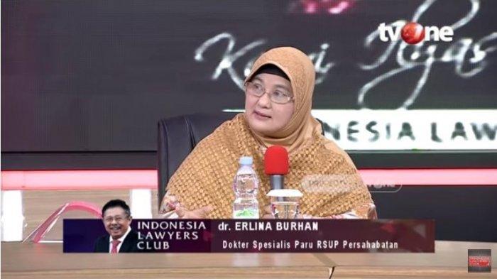 Dokter Spesialis Paru Rumah Sakit Persahabatan, dr. Erlina Burhan meminta agar pemerintah dapat membantu para dokter dalam melawan virus corona atau Covid-19.