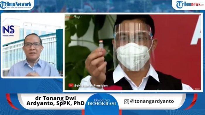 Wakil Direktur Pendidikan dan Penelitian RS UNS, dr Tonang Dwi Ardyanto dalam tayangan Panggung Demokrasi.