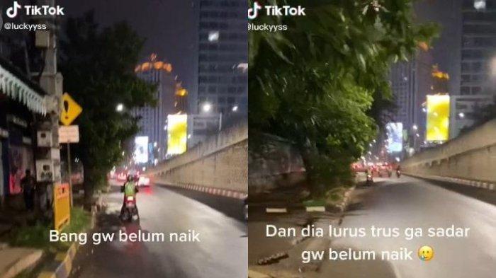 Driver Ojol Tinggalkan Penumpang Begitu Saja, Lupa Gara-gara Berhenti Isi Bensin