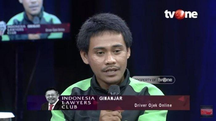 Driver Ojol Ginanjar, YouTube Indonesia Lawyers Club, Rabu (25/3/2020).