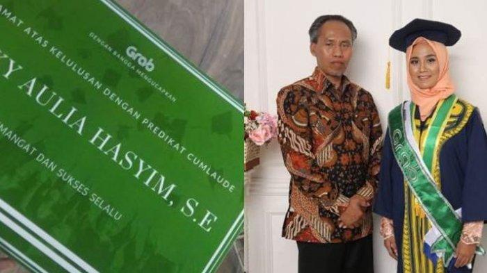 Viral Hari Ini Perjuangan Luar Biasa Driver Ojol Rizky Aulia Hasyim Lulus Kuliah, Nilainya Cumlaude