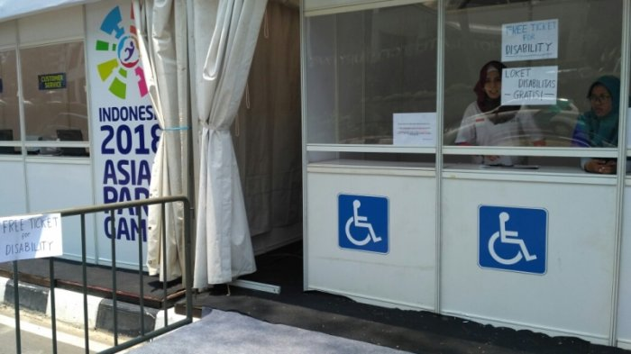 Warga Penyandang Disabilitas dan Pendampingnya Dapat Menonton Gratis Pertandingan APG 2018 di GBK