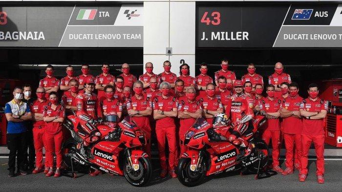 Dua pembalap Ducati Lenovo di MotoGP 2021, Fransesco Bagnaia dan Jack Miller