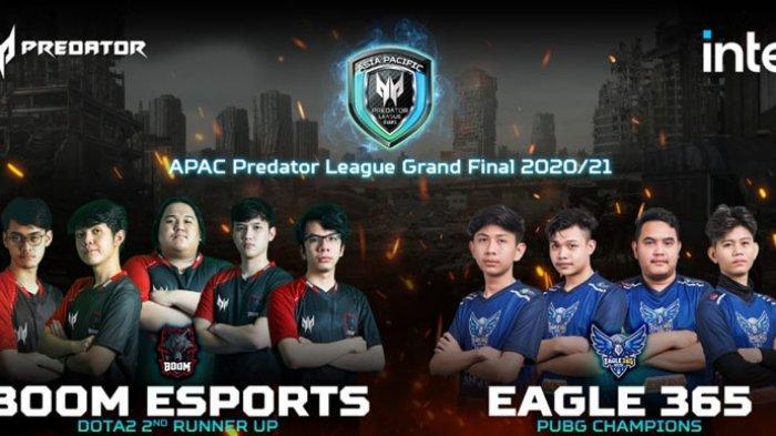 Tim Esport Indonesia 'Eagle 365' Juara PUBG APAC Predator League 2021