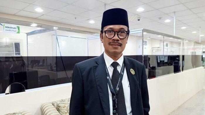 Duta Besar Republik Indonesia untuk Arab Saudi, Agus Maftuh Abegebriel, saat berkunjung ke Kantor Daker Makkah, Selasa (30/7/2019) malam waktu Arab Saudi.