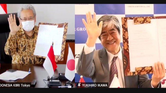 KBRI Tokyo Tandatangani Kerja Sama Ekonomi Kreatif dengan Creek and River Jepang