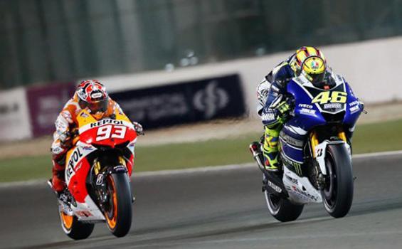 Duel Marc Marquez melawan Valentino Rossi
