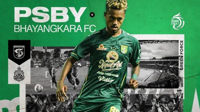 Duel Persebaya Surabaya vs Bhayangkara FC dalam lanjutan pekan keempat BRI Liga 1 2021 berlangsung mulai pukul 18.15 WIB, Live Indosiar dan Vidio.com.