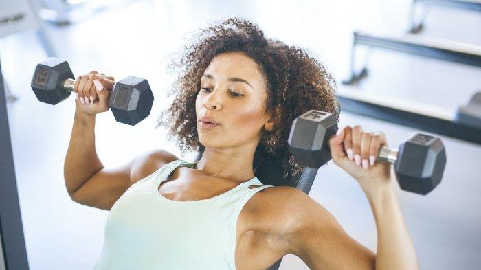 Dumbbell adalah versi mini dari alat angkat beban yang ada di gym.