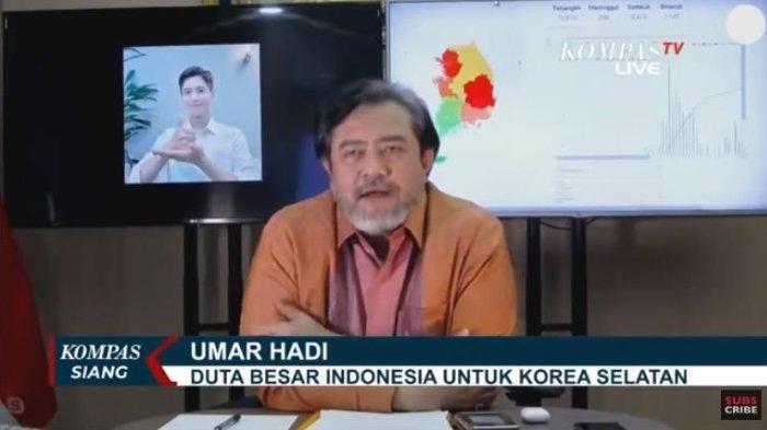 Duta Besar Indonesia untuk Korea Selatan, Umar Hadi mengungkapkan pemerintah akan memulangkan seluruh anak buah kapal (ABK) yang diduga alami eksploitasi di kapal ikan berbendera China. (Tangkap layar kanal YouTube Kompas TV)