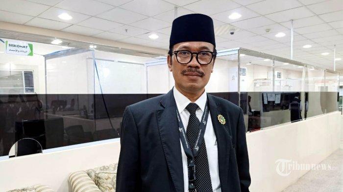 Duta Besar Republik Indonesia untuk Arab Saudi, Agus Maftuh Abegebriel, saat berkunjung ke Kantor Daker Makkah, Selasa (30/7/2019). TRIBUNNEWS/HUSEIN SANUSI/MCH2019