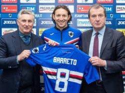 Gelandang Sampdoria, Edgar Barreto Tambah Daftar Pesepakbola Italia yang Positif Corona