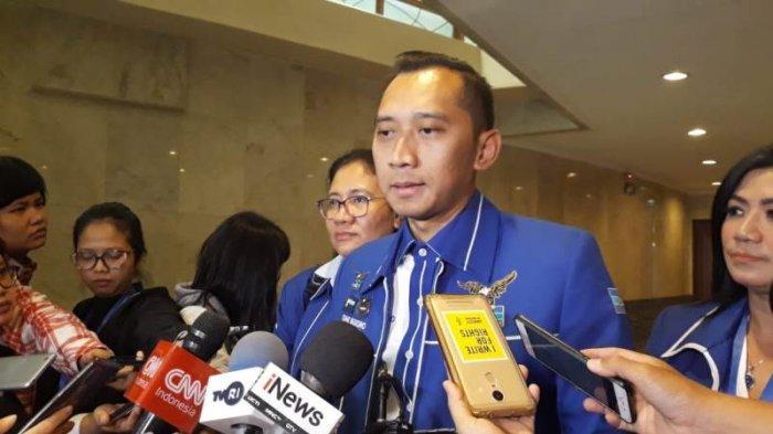 Ketua Fraksi Partai Demokrat Eddy Baskoro Yudhoyono atau Ibas saat ditemui di JCC, Senayan, Jakarta Pusat, Selasa (10/9/2019). (Fransiskus Adhiyuda/Tribunnews.com)