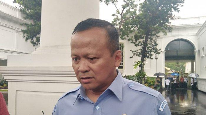 Menteri Kelautan dan Perikanan Edhy Prabowo di kompleks Istana Kepresidenan, Jakarta, Senin (6/1/2020).