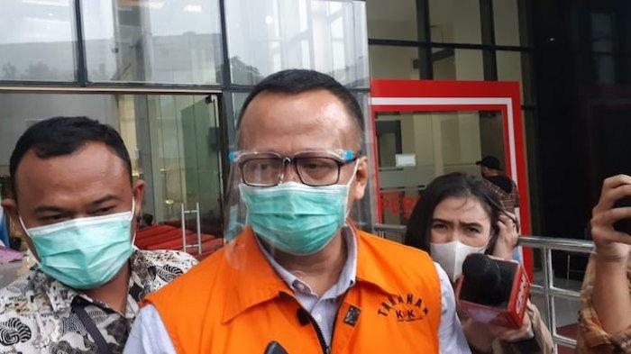 Mantan Menteri Kelautan dan Perikanan Edhy Prabowo menjalani pemeriksaan lanjutan kasus dugaan suap izin ekspor benih bening lobster di Gedung Merah Putih KPK, Jakarta Selatan, Jumat (29/1/2021)