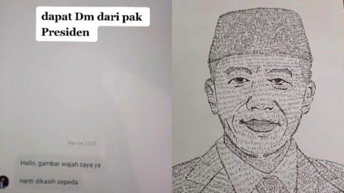 VIRAL Pemuda Mengaku Dapat DM dari Jokowi, Diminta Gambar Wajah Presiden, Ternyata Hasil Editan
