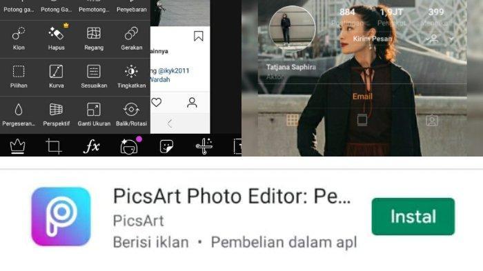 Edit Foto Bertema Instagram Menggunakan Picsart Aplikasi Edit Foto Gratis Tribunnews Com Mobile