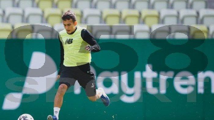 Egy Maulana Vikri sudah terlihat bergabung dengan skuat Lechia Gdansk saat latihan di Energa Stadium, pada Rabu (26/8/2020).