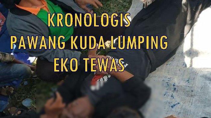 Eko (49), pawang kuda lumping akhirnya meninggal dunia tak lama setelah pertunjukan aksi kuda lumping berlangsung, Minggu (18/8/2019) dalam rangka memeriahkan HUT Ke-74 Kemerdekaan RI di Baturaja OKU. SRIWIJAYA POST/LENI JUWITA
