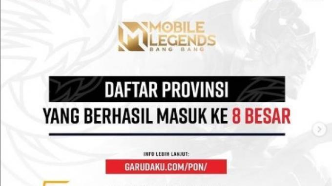 Tim yang Lolos Divisi Mobile Legends PON XX Papua 2021: Ada 8 Provinsi, Berikut Daftar Lengkapnya