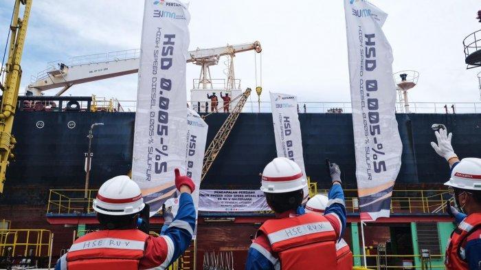 Pertamina Berhasil Ekspor Perdana HSD 0.005-%S Senilai 9,5 Juta Dolar AS