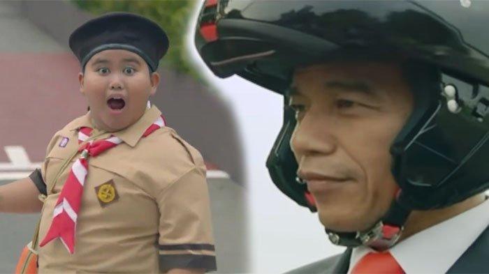 Mau Tahu Kabar Baru Fairel, Bocah Menggemaskan Melongo Lihat Jokowi Naik Moge di Iklan Asian Games?