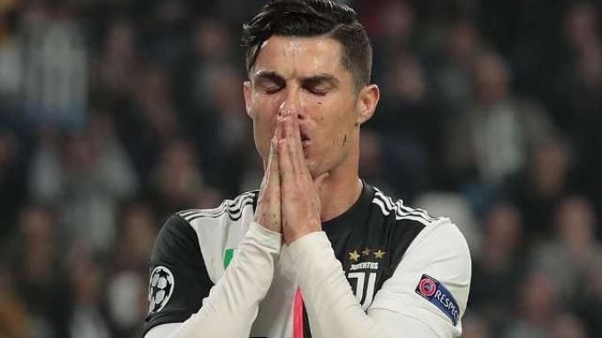 Ekspresi kekecewaan Cristiano Ronaldo.