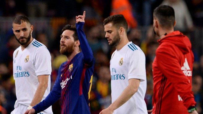 Jadwal Bola Malam Ini Live Bein Sports, Laga Pamungkas Real Madrid dan Barcelona Liga Spanyol