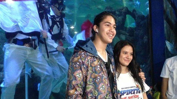 El Rumi dan Marsha Aruan ditemui di Seaworld, Ancol, Jakarta Utara, Jumat (17/8/2018).