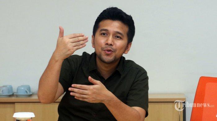 SILATURAHMI - Wakil Gubernur Jawa Timur, Emil Dardak, melakukan kunjungan silaturahmi ke Kantor Redaksi Tribunnews Grup di Jakarta, Sabtu (14/3/2020). (Warta Kota/Nur Ichsan)