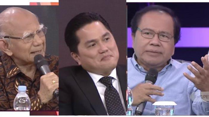 Prof Emil Salim, Erick Thohir dan Rizal Ramli di Indonesia Lawyers Club di tvOne.
