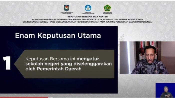 Masukan HNW Terhadap SKB Tiga Menteri Tentang Seragam Sekolah