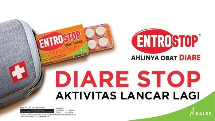 Cara mengobati diare yang efektif, konsumsi obat sakit perut yang tepat seperti Entrostop.