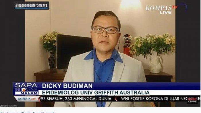 Epidemiolog Univ Griffith Australia, Dicky Budiman, menanggapi lonjakan kasus Covid-19 di Indonesia yang terjadi Jumat (28/8/2020) ini.