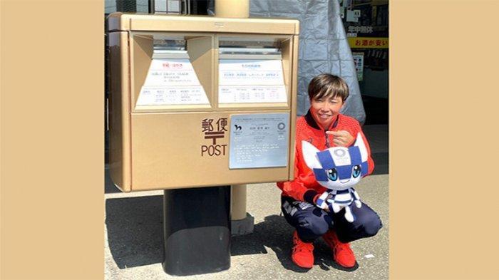 Bis Surat Pos Jepang Jadi Warna Emas Peringati Atlet Peraih Emas Olimpiade