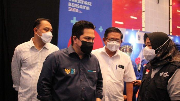 Erick Thohir Buka Vaksinasi Bersama BUMN Jawa Timur, Petrokimia Gresik dan Satgas Kerahkan 50 Nakes