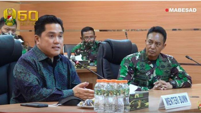 Erick Thohir dan KSAD Jenderal Andika Perkasa