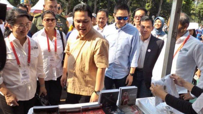 Erick Thohir Disela-sela acara Olympic Movement in Action di Komplek Gelora Bung Karno, Senayan, Jumat (2/8/201).
