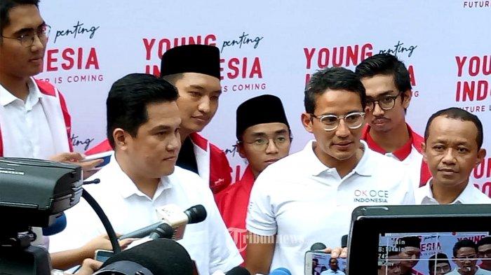 Usai Pertemukan Jokowi dan Prabowo, Erick Thohir Upayakan Pertemuan Ma'ruf Amin dan Sandiaga Uno