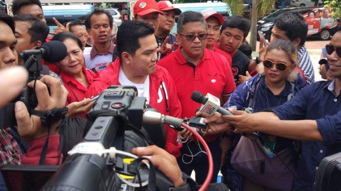 Hadiri Kampanye Perdana PDIP, Erick Thohir Ajak Masyarakat Dukung Jokowi-Ma'ruf Amin