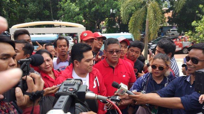 Hadir di Kampanye Perdana PDIP, Erick Thohir Ajak Warga Tangerang Dukung Jokowi-Ma'ruf