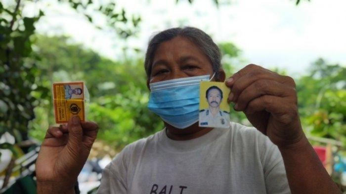 Erni Marliana (61), istri seorang pensiunan polisi, saat ditemui di rumahnya