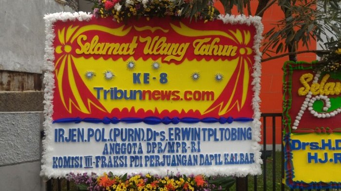 Erwin TPL Tobing Ucapkan Selamat HUT ke-8 Tribunnews.com
