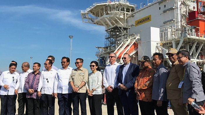 Jonan Resmikan Floating Processing Unit Terbesar di Indonesia