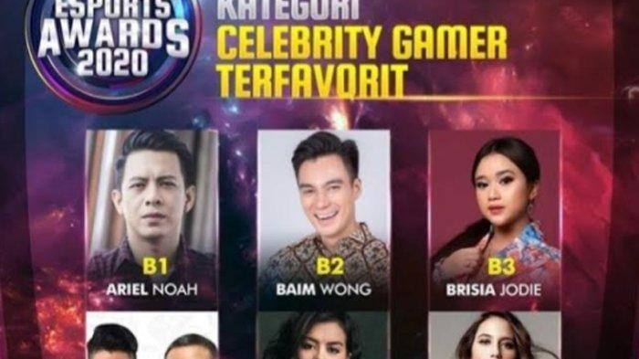 Pevita Pearce dan Eva Celia hingga Ariel NOAH Bersaing di Indonesian Esports Awards 2020