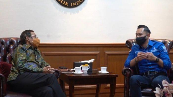 AHY Temui Mahfud MD, Singgung Kedaulatan Partai Demokrat yang Direbut