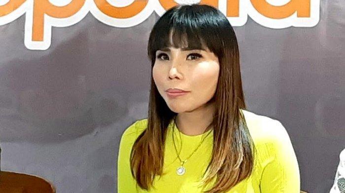 Eva Bellissima ketika menggelar jumpa pers di Thamrin City, Tanah Abang, Jakarta Selatan, Kamis (14/1/2021).