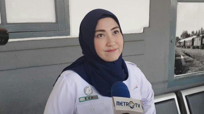 Senior Manager Humas DAOP 1 Jakarta Eva Chairunisa saat ditemui di Stasiun Pasar Senen, Jakarta Pusat, Jumat (31/5/2019).