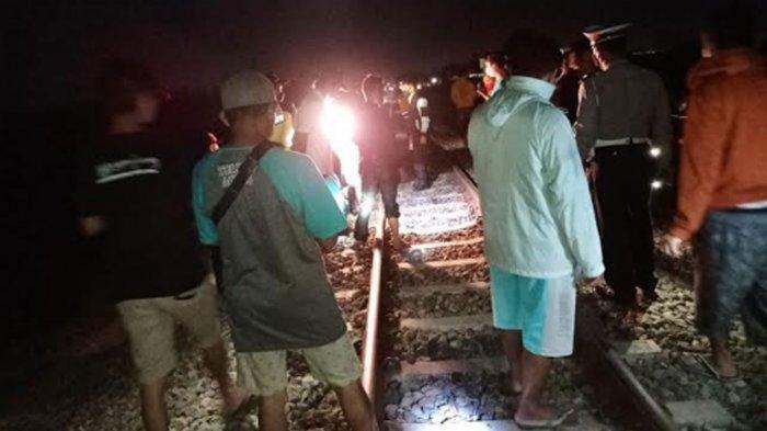 Pedagang Tewas Tertabrak Kereta Api Malabar di Ngadiluwih Kediri